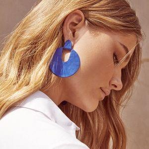 NWT Kendra Scott Diane Matte Navy Earring